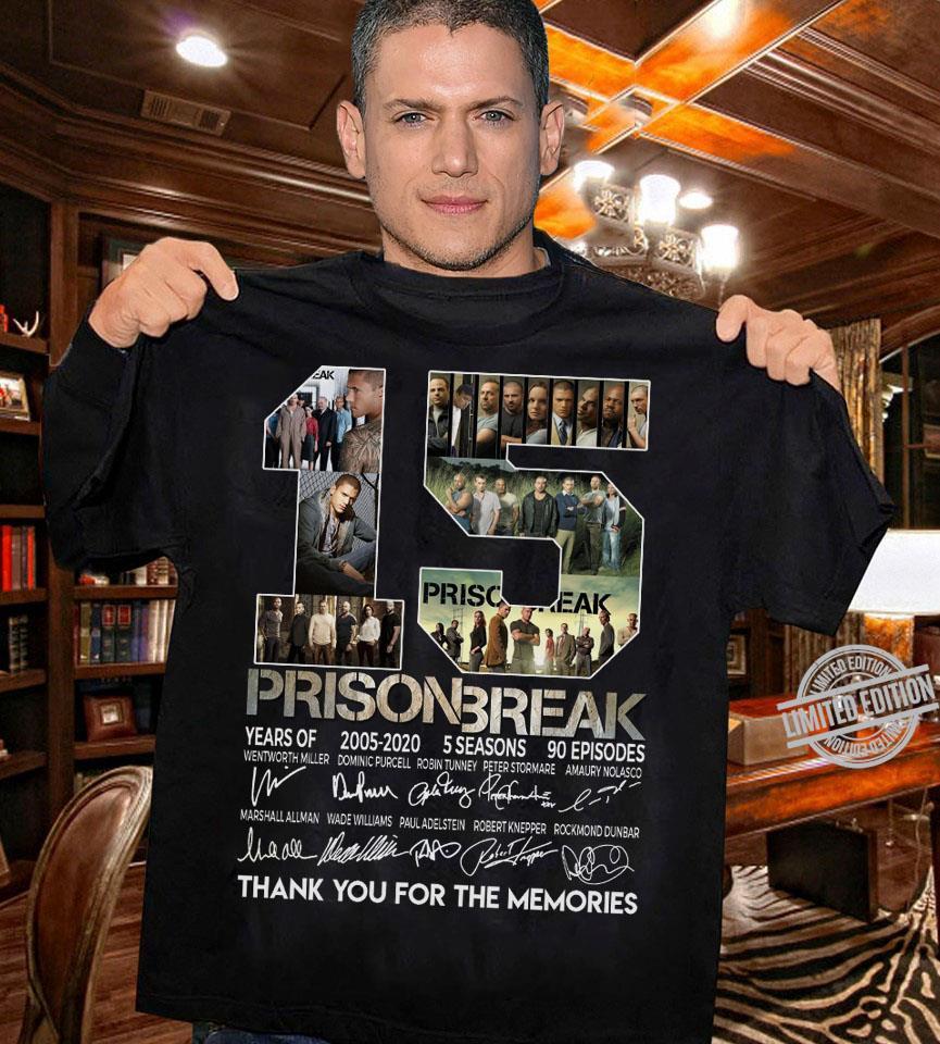 15 Years Of Prison Break Signatures Shirt