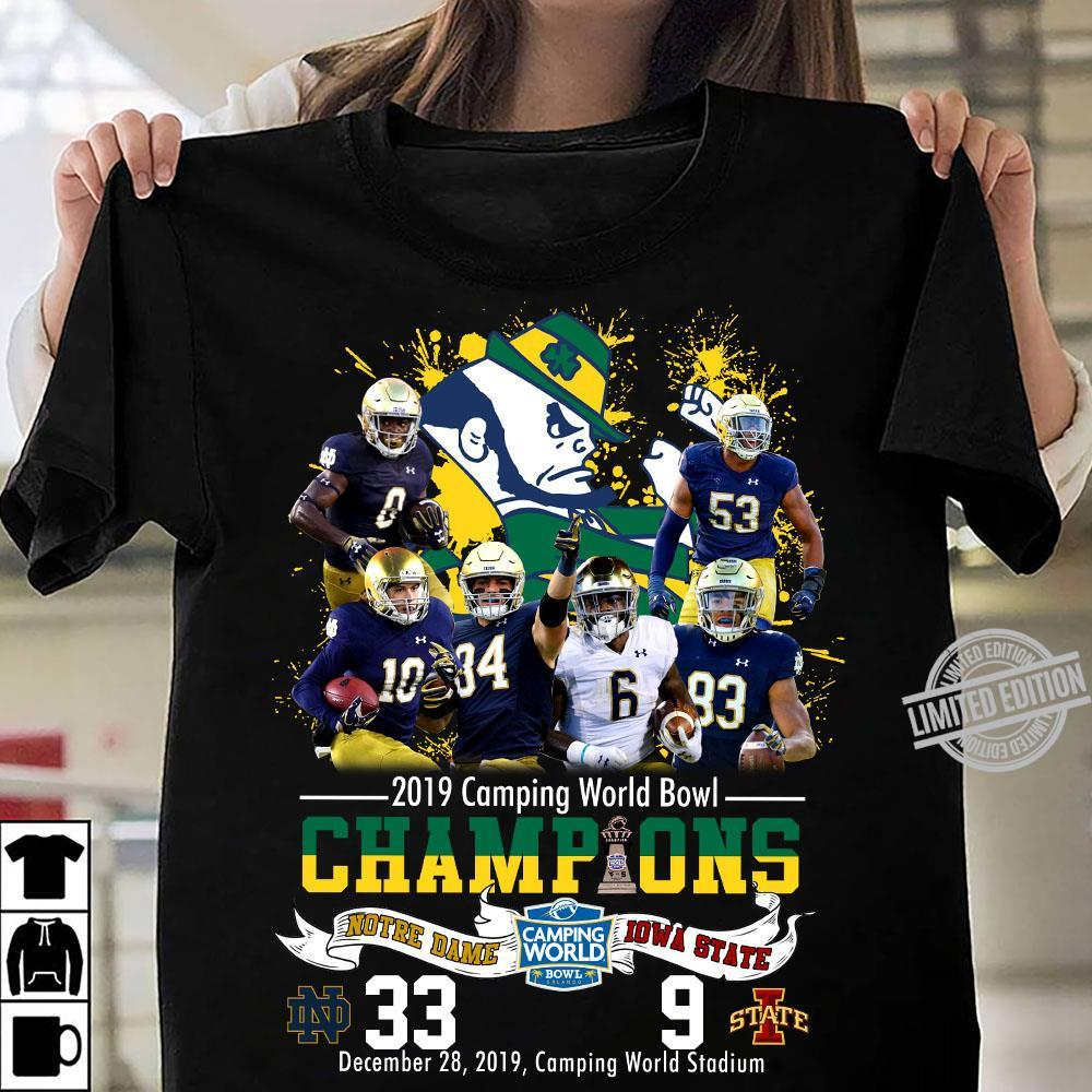 2019 Camping World Bowl Champions Notre Dame Iqwa State Shirt