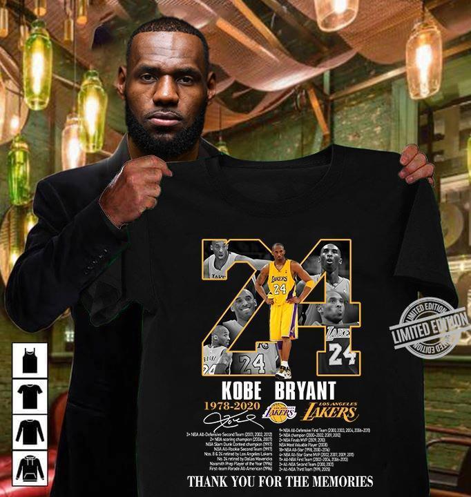 24 Kobe Bryant 1978 2020 Lakers Shirt