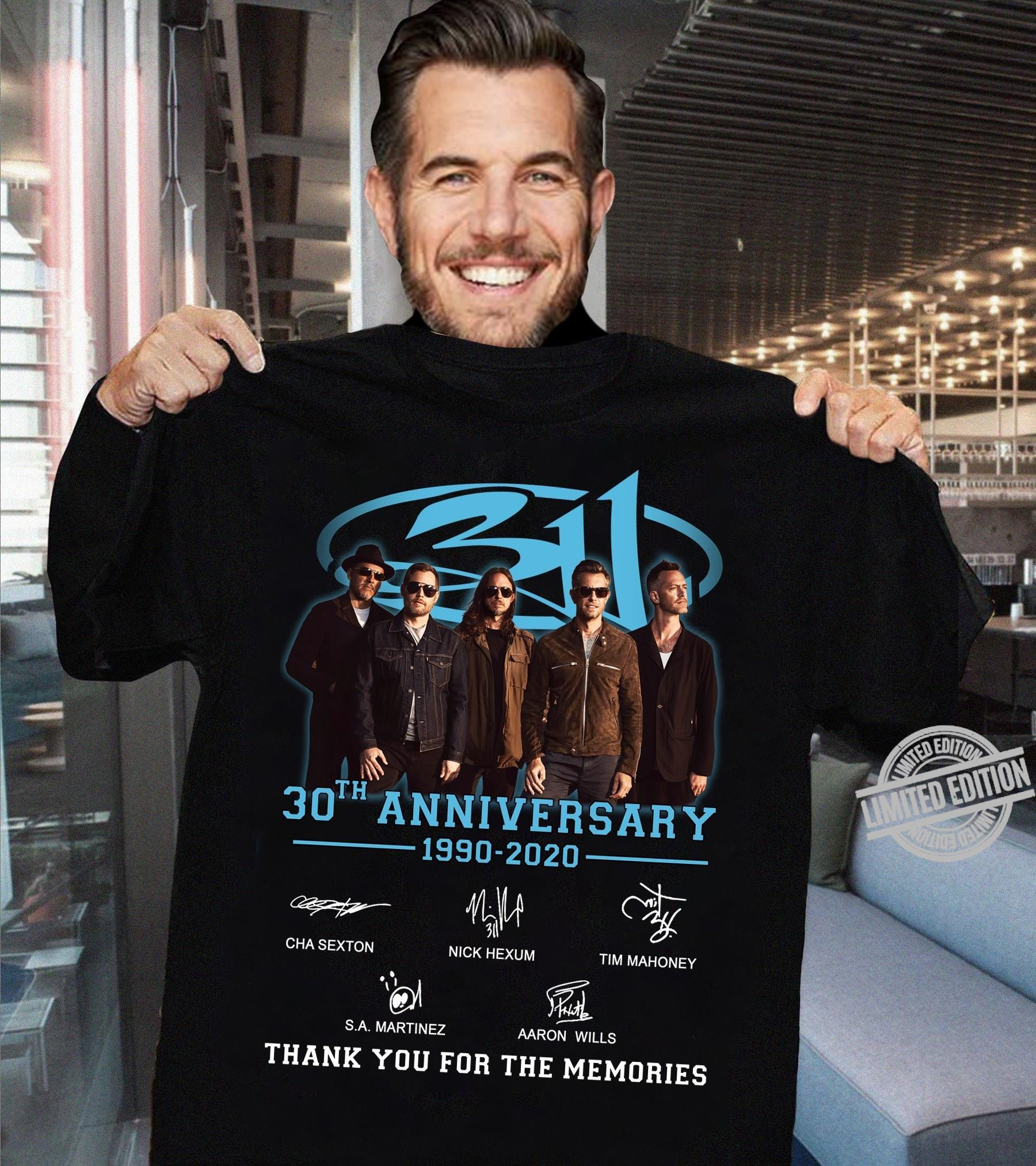 30th Anniversary 1990-2020 Thank You For The Memories Shirt