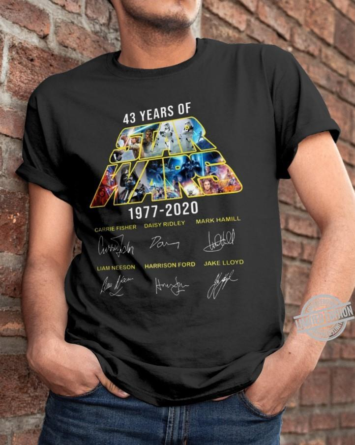 43 Years Of Star Wars 1977-2020 Shirt