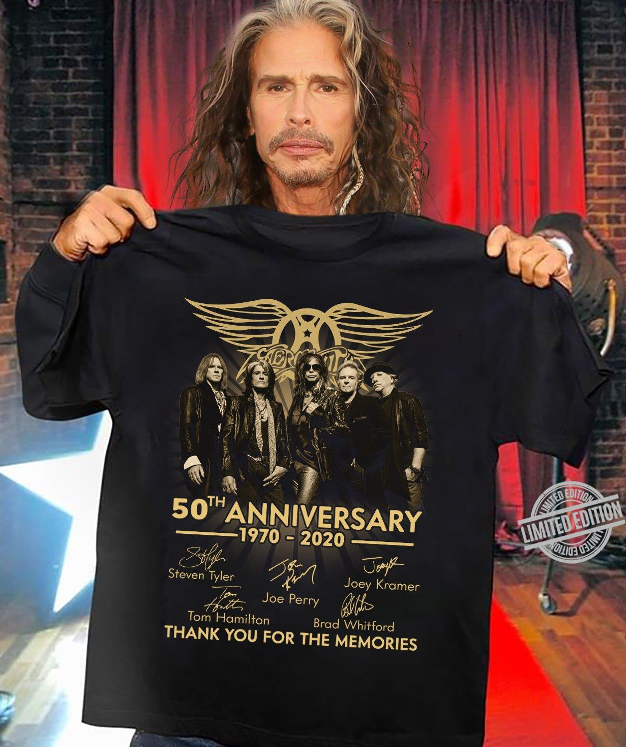 50th Anniversary 1970-2020 Thank You For The Memories Shirt