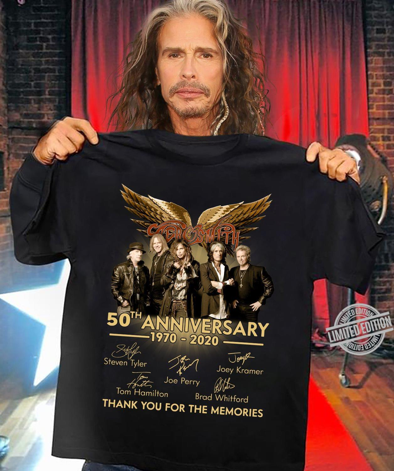50th Anniversary Thank You For The Memories Shirt