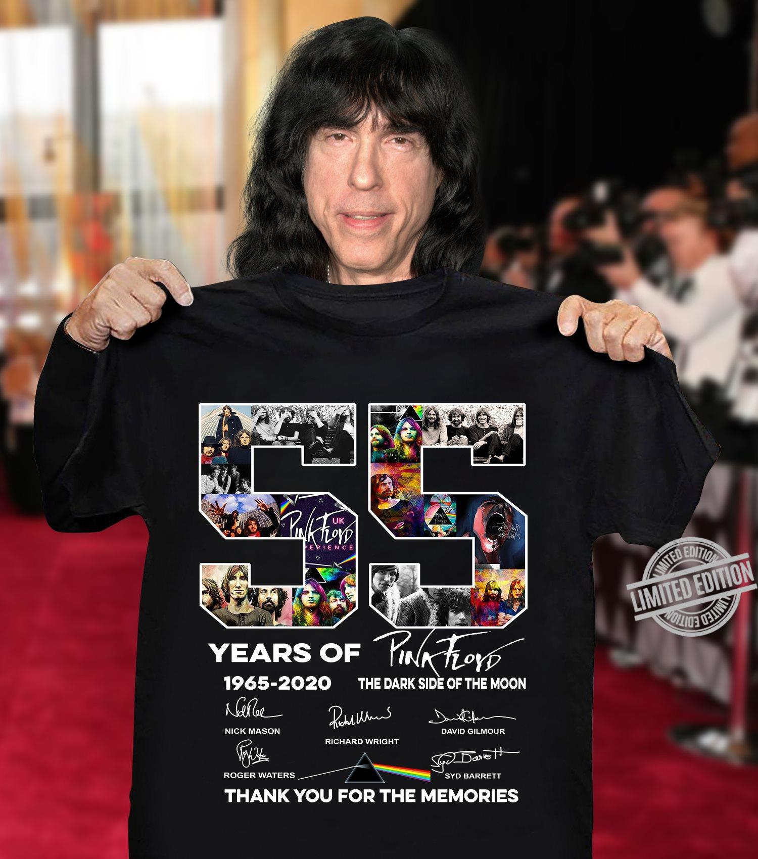 55 Years Of 1965-2020 Thank For The Memories Shirt