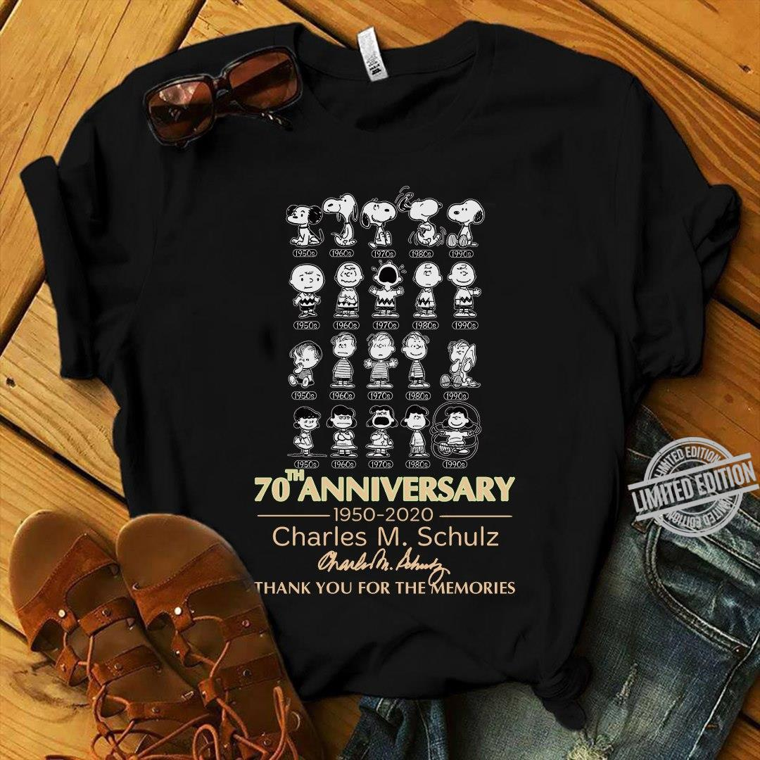 70th Anniversary Charles M.Schulz Thank You For The Memories Shirt