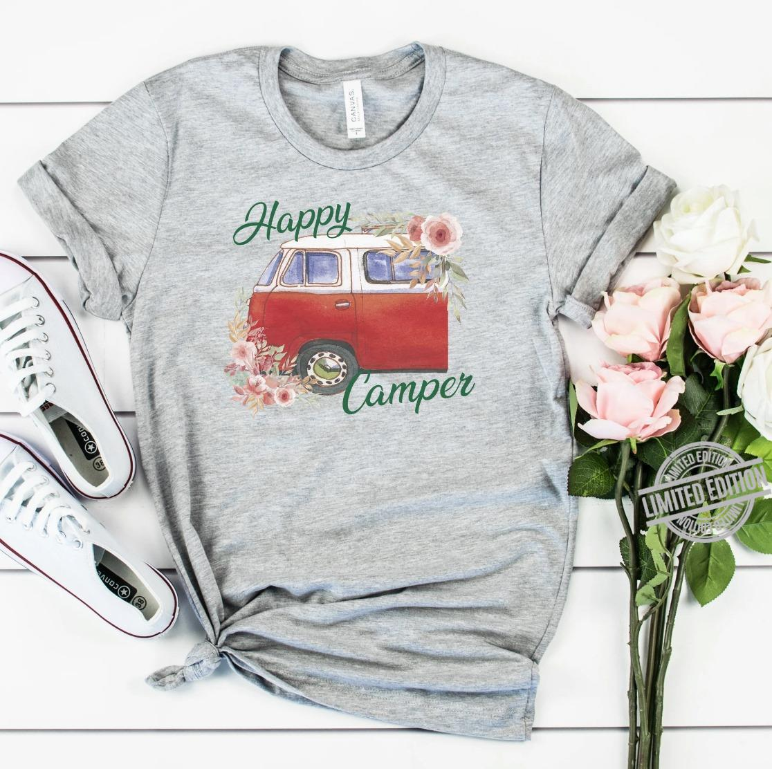 A Car And Flower Happy Camper Shirt