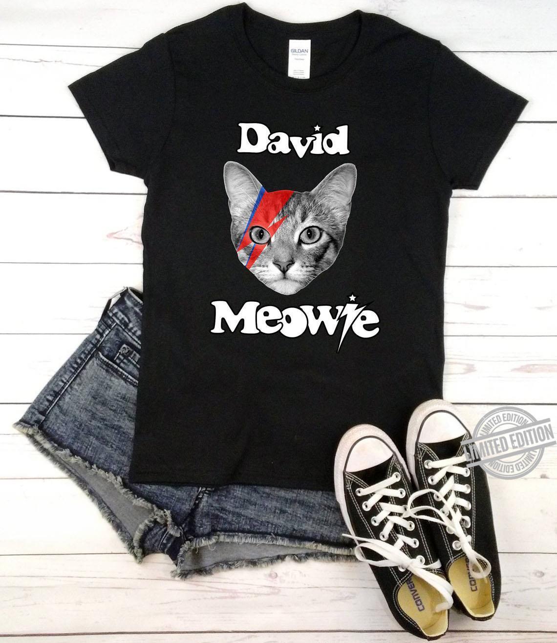 A Cat David Meowie Shirt