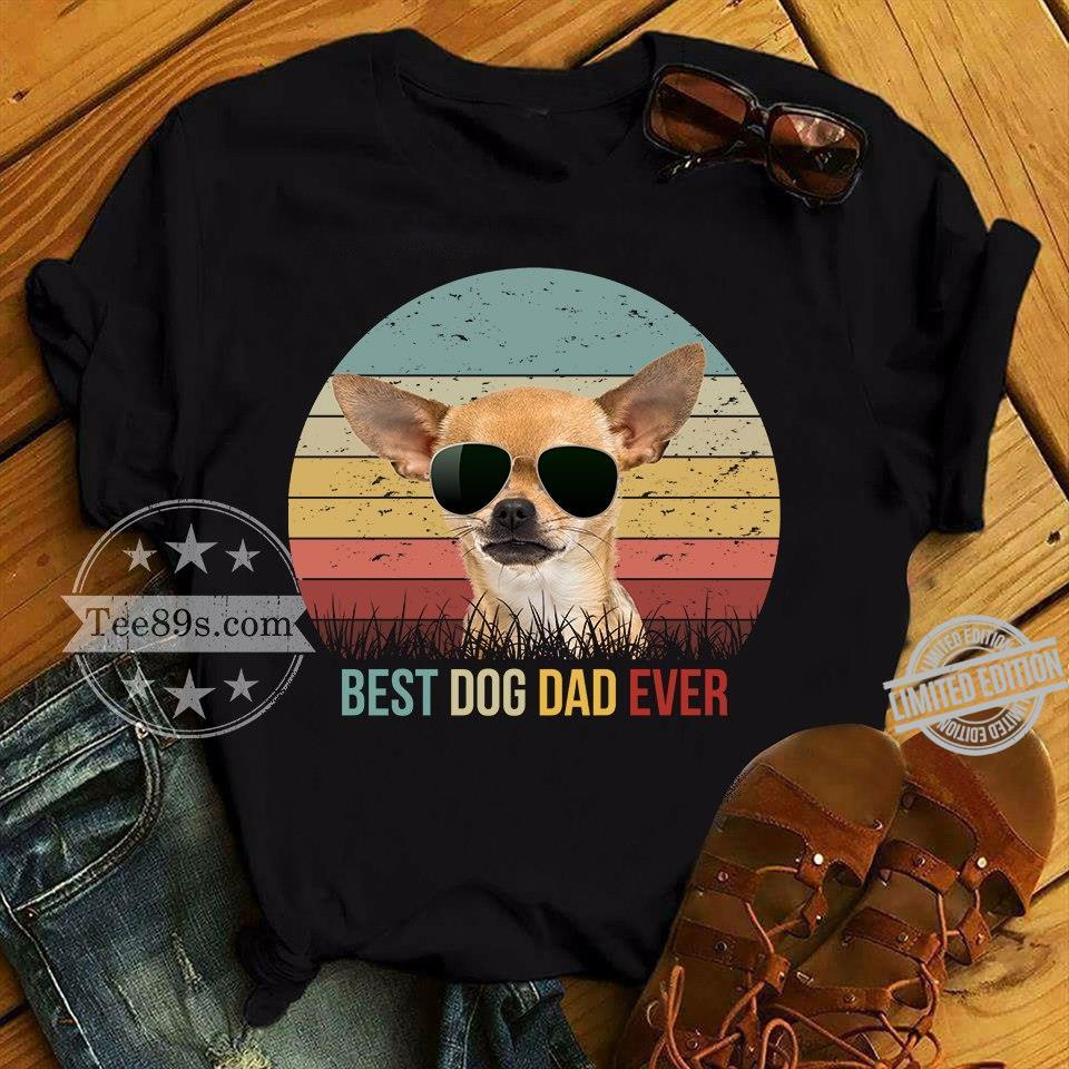 A Dog And Glass Best Dog Dad Ever Shirt