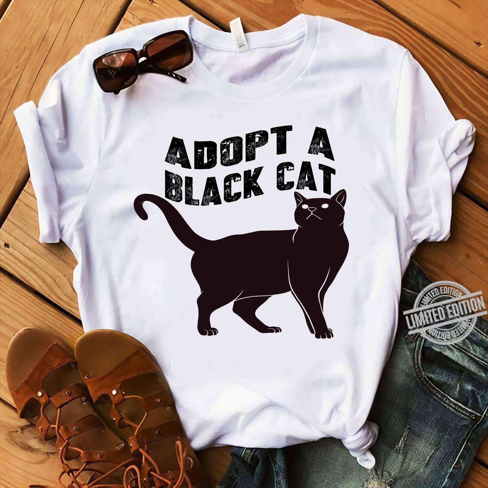 Adopt A Black Cat Shirt