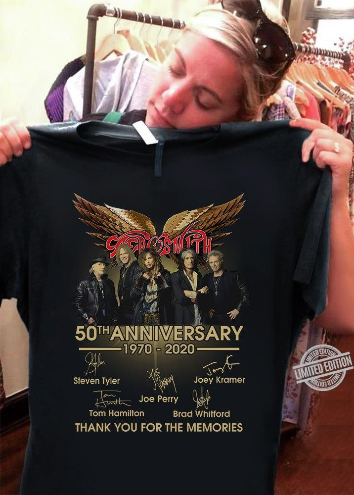 Aerosmith 50th Anniversary 1970-2020 Thank You For The Memories Shirt