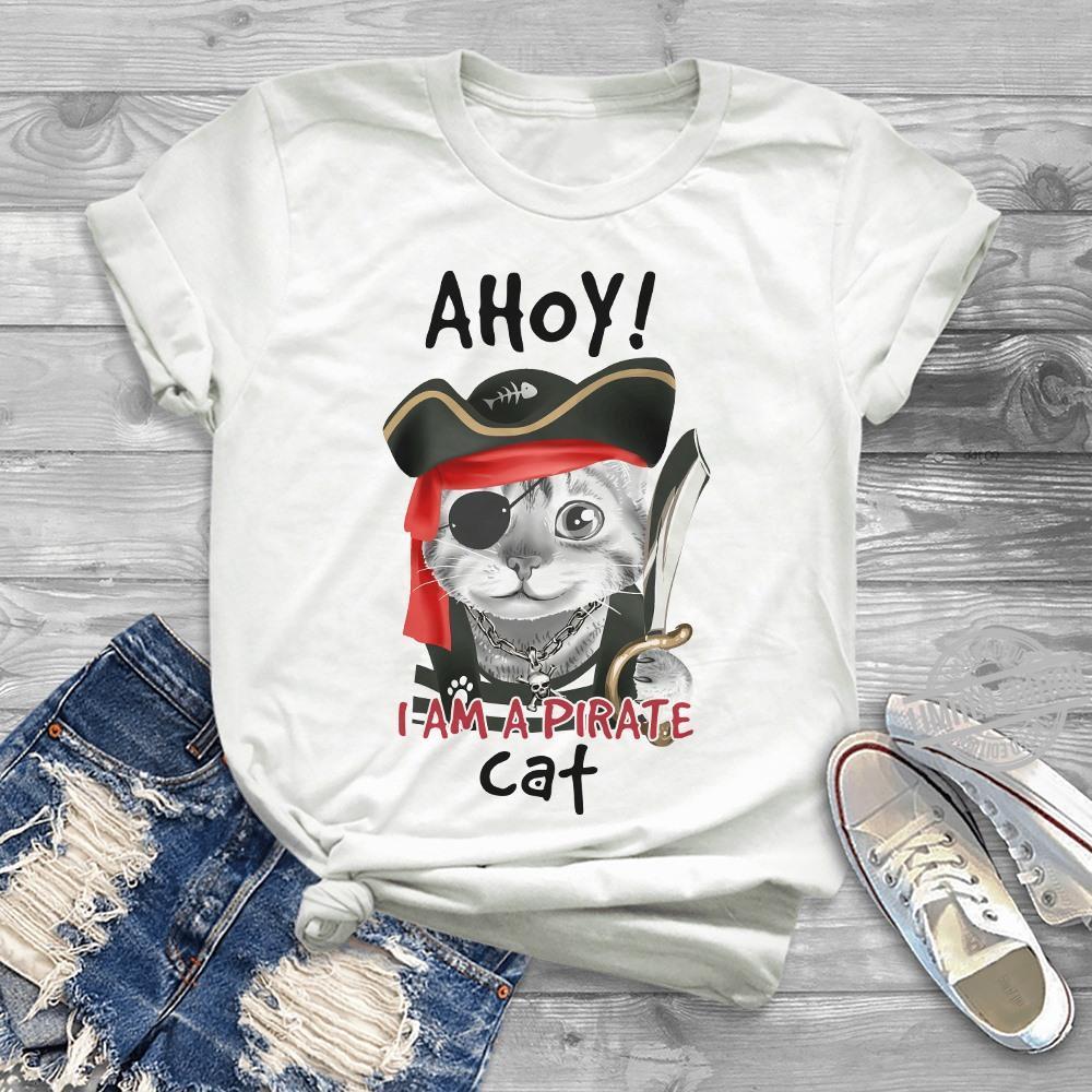 Ahoy I Am Pirate Cat Shirt