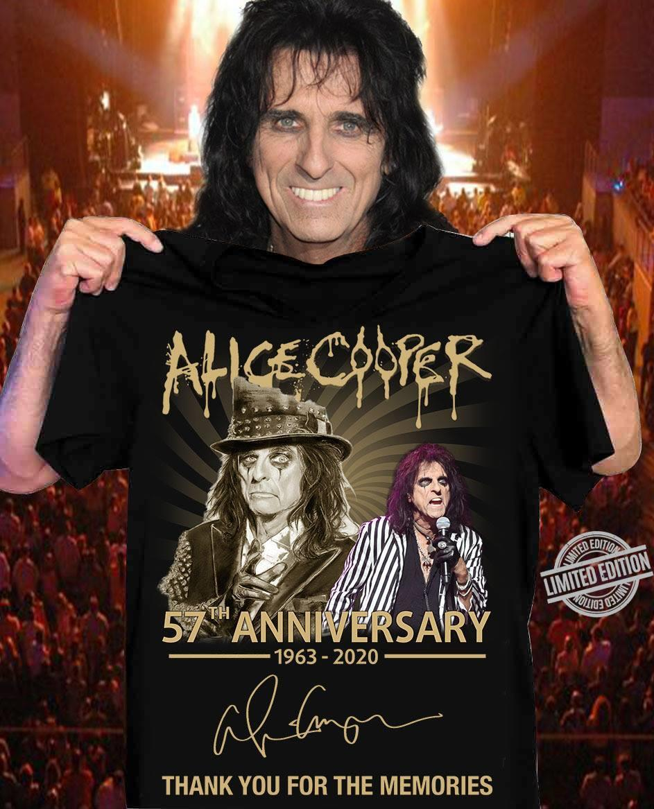 Alice Cooper 57th Anniversary 1963-2020 Thank You For The Memories Shirt