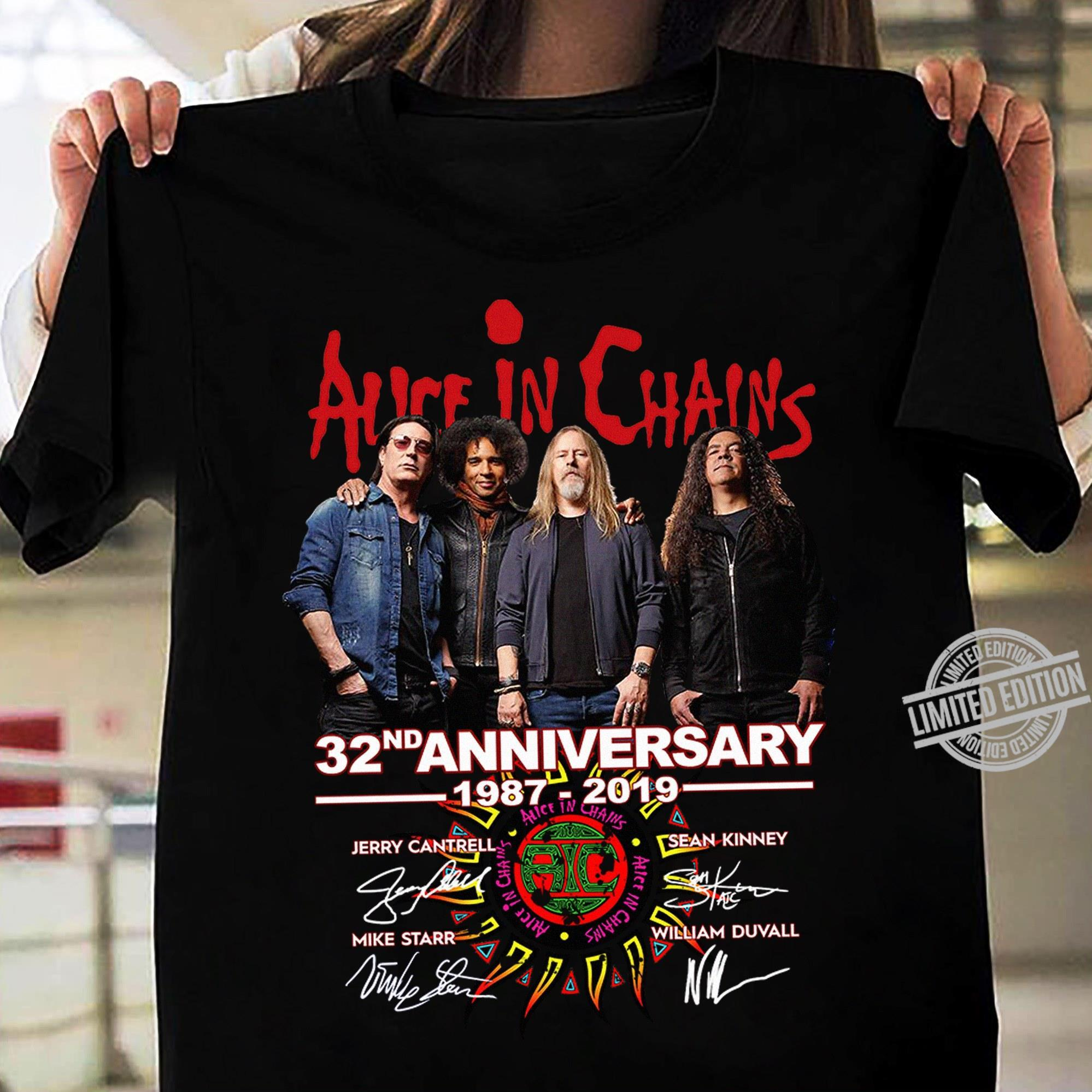 Alice In Chains 32nd Anniversary 1987-2019 Shirt