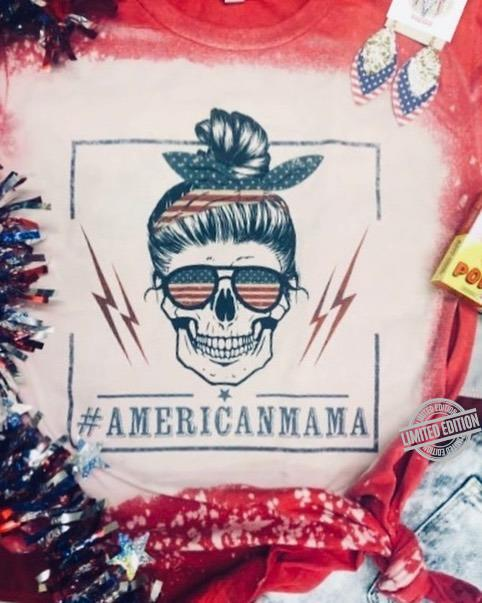 American Mama Skull Shirt