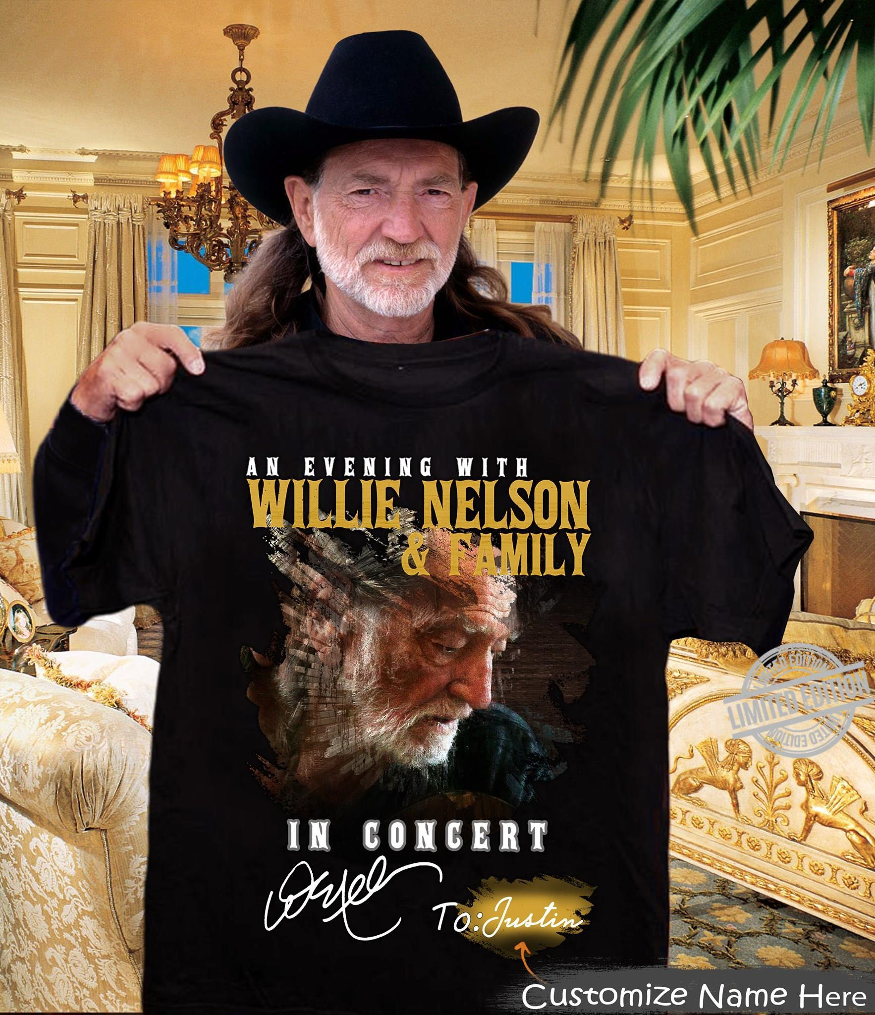 An Evening With Willie Nelson & Family In Concert Shirt