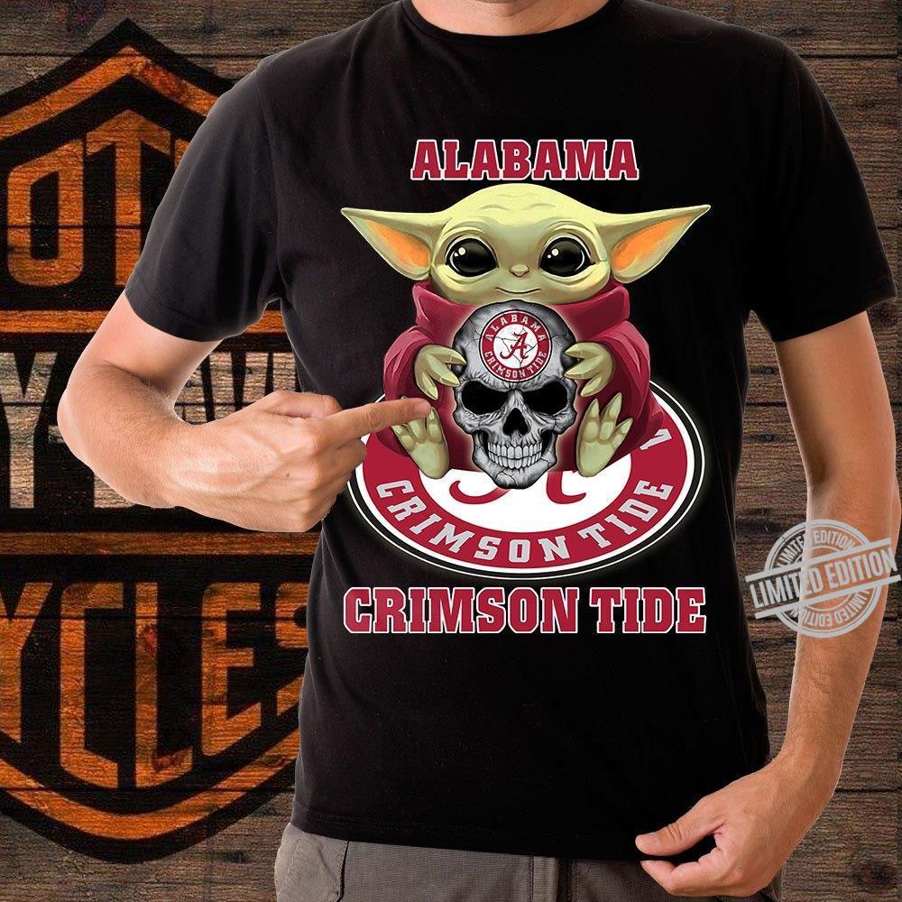 Baby Yoda And Alabama Crimson Tide Shirt