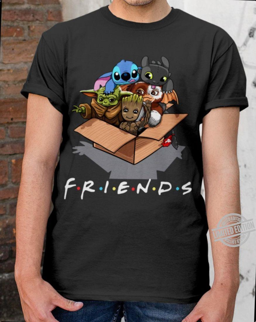 Baby Yoda And Stitch And Mandalorian And Friends In The Box Shirt