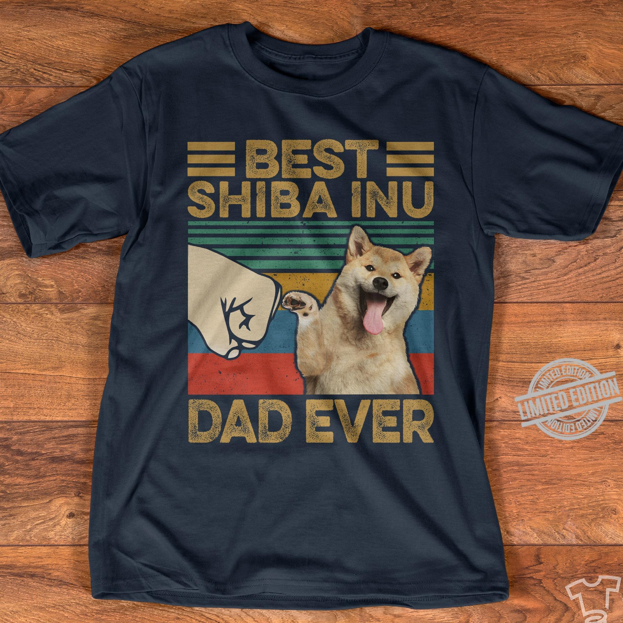 Best Shiba Inu Dad Ever Shirt